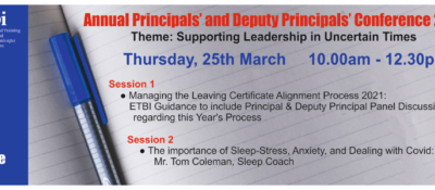 Principals/Deputy Principals Conference March 2021