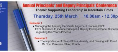 Principals/Deputy Principals Conference March 2021