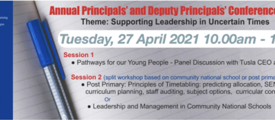 ETBI Principals and Deputy Principals Conference – April 27th, 2021
