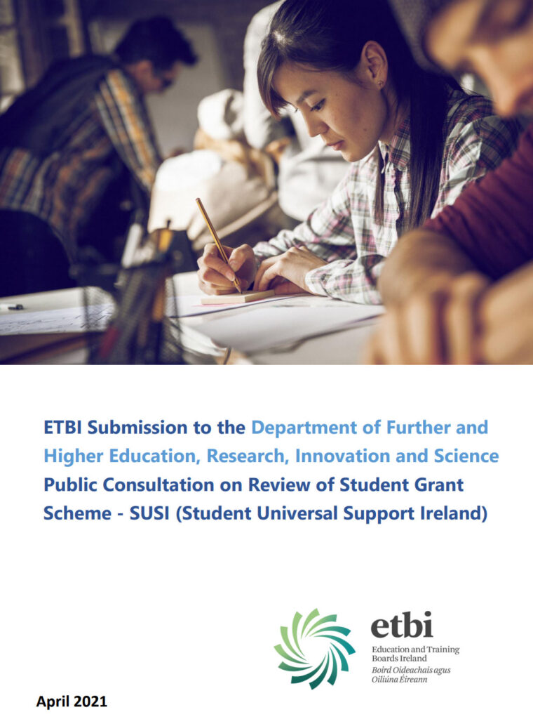 ETBI SUSI Submission on review of Student Grant Scheme