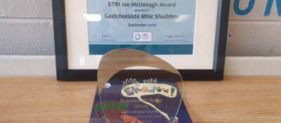 Taoiseach presents Cork ETB school with ETBI Joe McDonagh Award