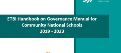 ETBI Handbook on Governance Manual for Community National Schools 2019 – 2023